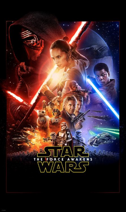 Non-woven photomural Star Wars EP7 Official Movie Poster